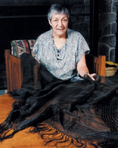 Polly Cooper's shawl remains in the care of her descendants. Pictured is Louella Derrick (Onondaga).