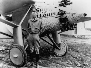 Lindbergh and the Spirit of St. Louis.