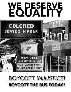 A post for nonviolent protest during the Montgomery Bus Boycott, 1955.