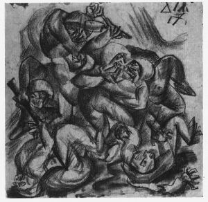 """Hand to Hand Fighting,"" Otto Dix"