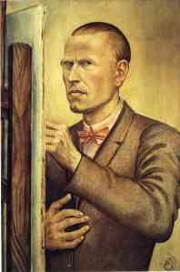 """""""Self Portrait,"""" Otto Dix, 1926."""
