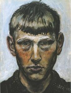"""""""Self Portrait,"""" Otto Dix, 1913."""