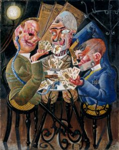 """The Skat Players,"" Otto Dix, 1920."