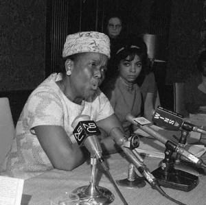 Ella Jo Baker, press conference, 1960