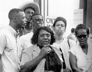 Fannie Lou Hamer (center) & Ella Baker (right), Mississippi Freedom Democratic Party, 1964.