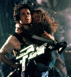 Sigourney Weaver as Ellen Ripley in Aliens, 1986.