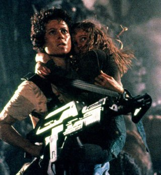 Sigourney Weaver as Ellen Ripley in Aliens, 1986.