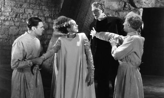 BRIDE OF FRANKENSTEIN, Colin Clive, Elsa Lanchester, Boris Karloff, Ernest Thesinger, 1935